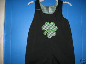 Custom Shamrock Applique St. Patrick's Day Longall