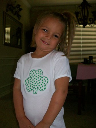 Custom Applique Shamrock St. Patrick's Day Shirt