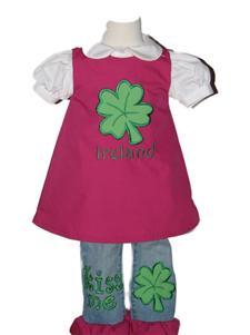 Custom Boutique St Patricks Day 2pc Jean Set
