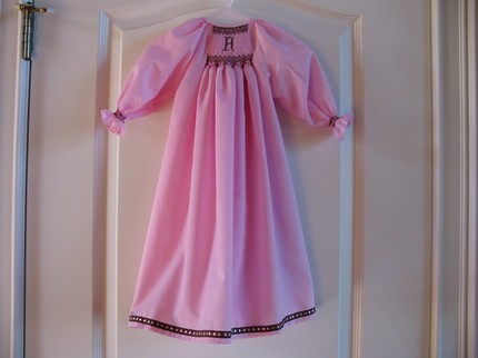 Custom Made Smocked Initial Daygown