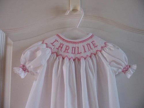 Custom Smocked Bishop Name Dress