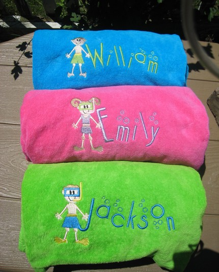 Embroidered Personalized Beach Towel