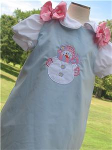 Christmas Snowman Applique Aline Dress