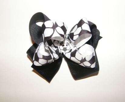 Boutique Soccer Hair Bow