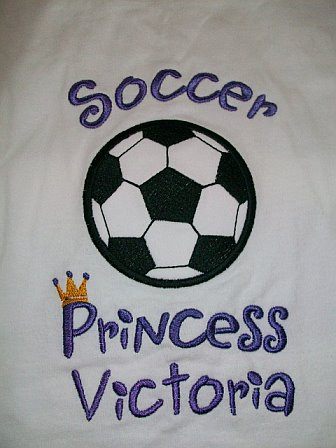 Custom Applique Soccer Princess Shirt