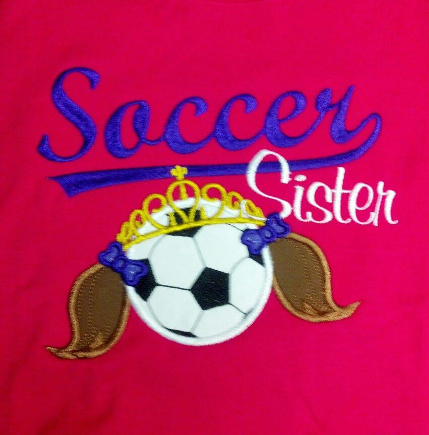 Custom Applique Soccer Sister Shirt