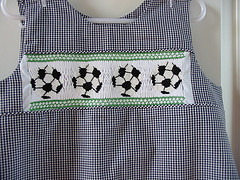 Custom Smocked Soccer Aline Dress