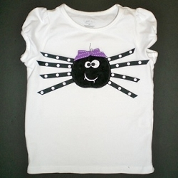 Custom Applique Spooky Spider Halloween Shirt