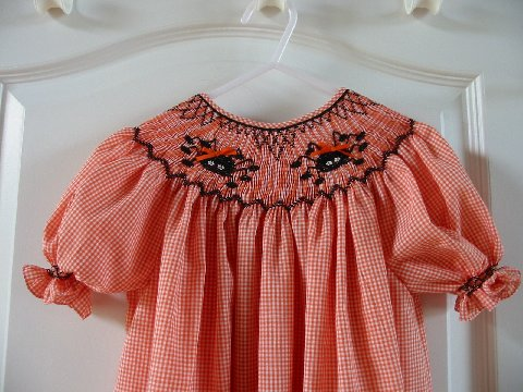 Custom Spider Halloween Smocked Dress