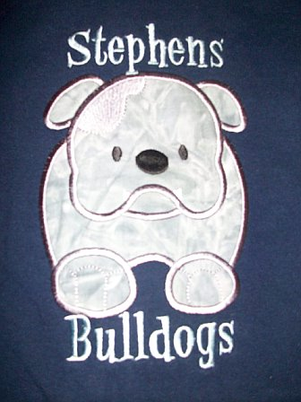 Custom Appliqued Stephens Elem. Bulldog Shirt