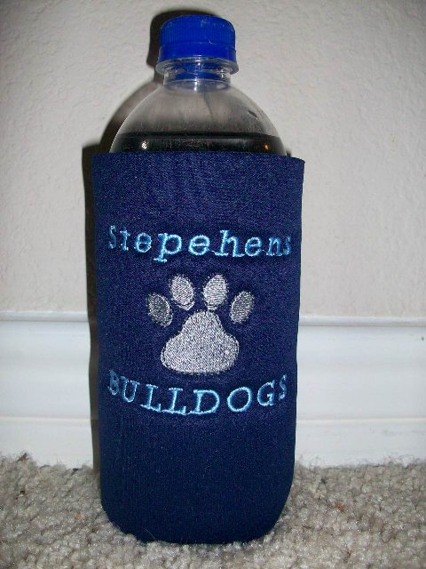 Custom Stephens Elem. Water Bottle and Can Koozies