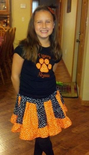 Custom Applique Football or School Spirit Outfit