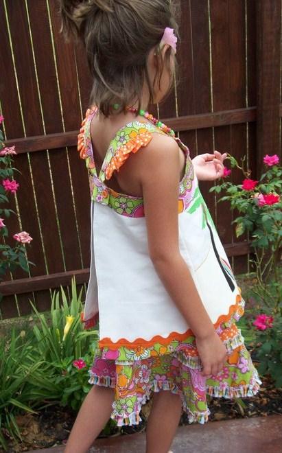 Custom Applique Tiki Beach Theme Outfit