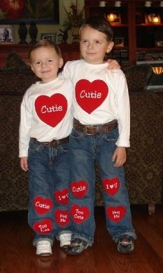 Custom Valentine Shirt and Jeans Applique Outfit