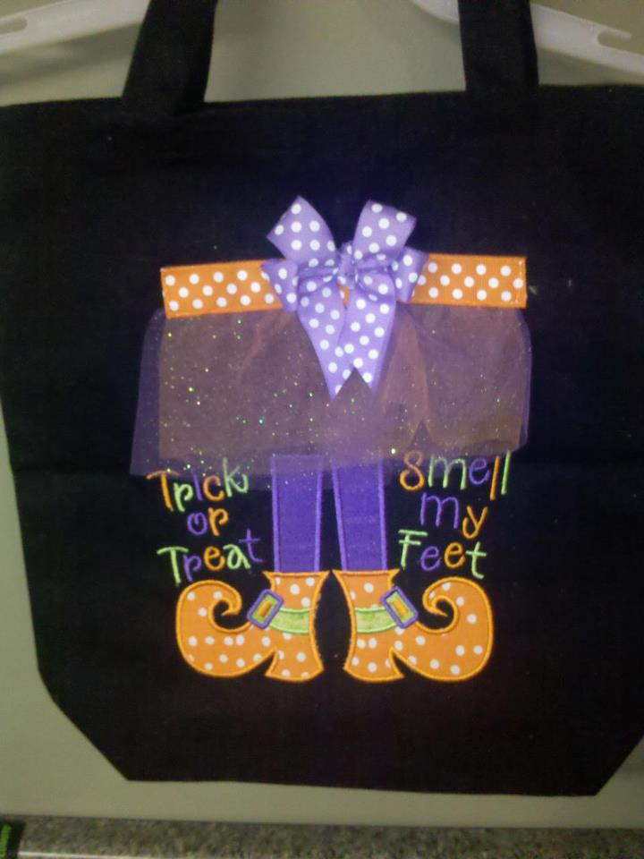 Custom Trick Or Treat Smell My Feet Halloween Bag