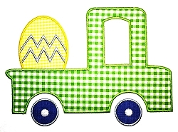 Custom Applique Easter Truck with Egg