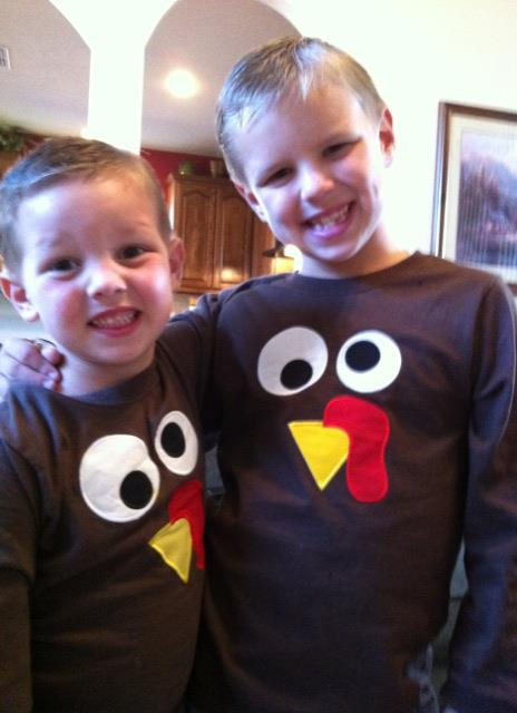 Custom Applique Thanksgiving Turkey Face Shirt