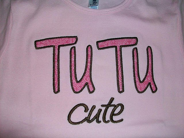 Tu Tu Cute Applique Shirt