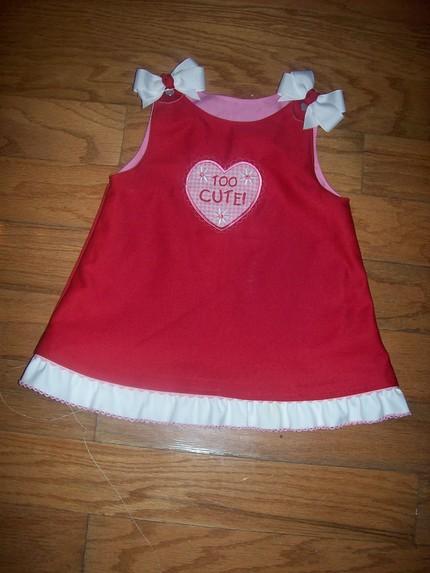 Custom Valentine Heart Applique Aline Dress