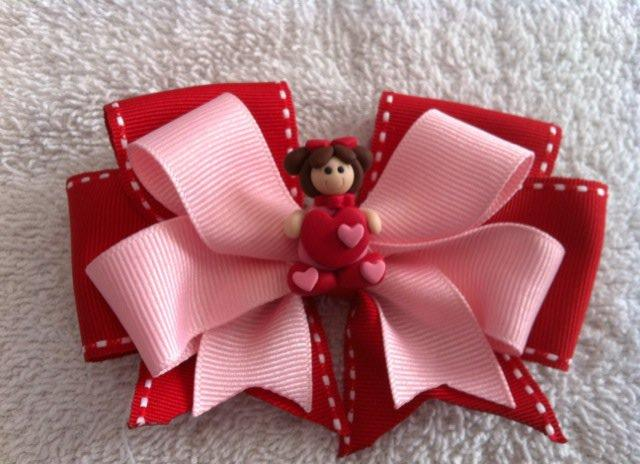 Custom Valentine Girl Hair Bow
