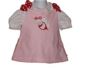Custom Boutique Valentine Bee Aline Dress