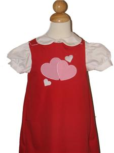 Custom Aline Valentines Heart Dress