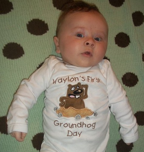 Custom Applique Groundhog Shirt (1)