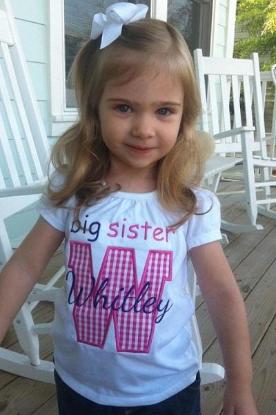 Custom Applique Big/Little Sister/Brother Initial Shirt