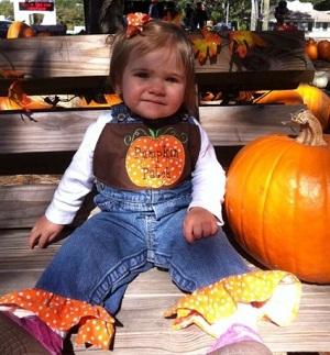Custom Applique Overalls Pumpkin Patch Halloween