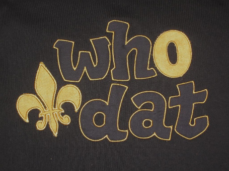 Custom Applique Who Dat Saints Shirt (1)