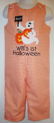 Custom Applique Halloween Ghost Longall