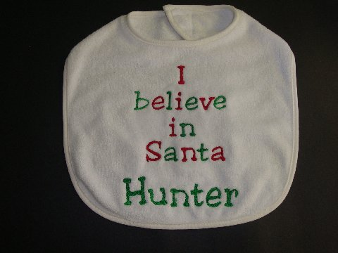 I believe In Santa Christmas Bib