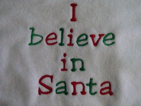 I believe In Santa Christmas Bib