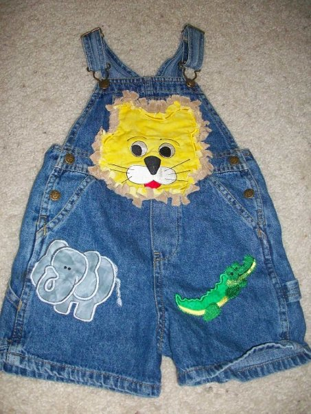 Custom Zoo Applique Jean Overalls