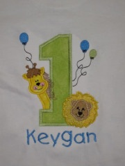 Custom Applique Zoo Birthday Animal Shirt