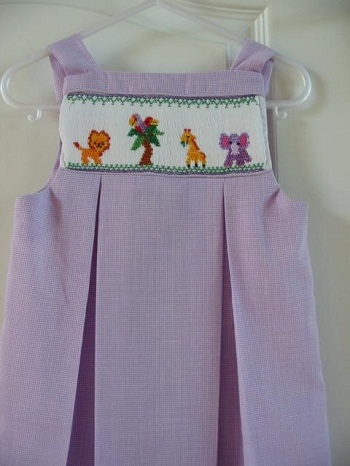 Custom Smocked Zoo Aline Dress